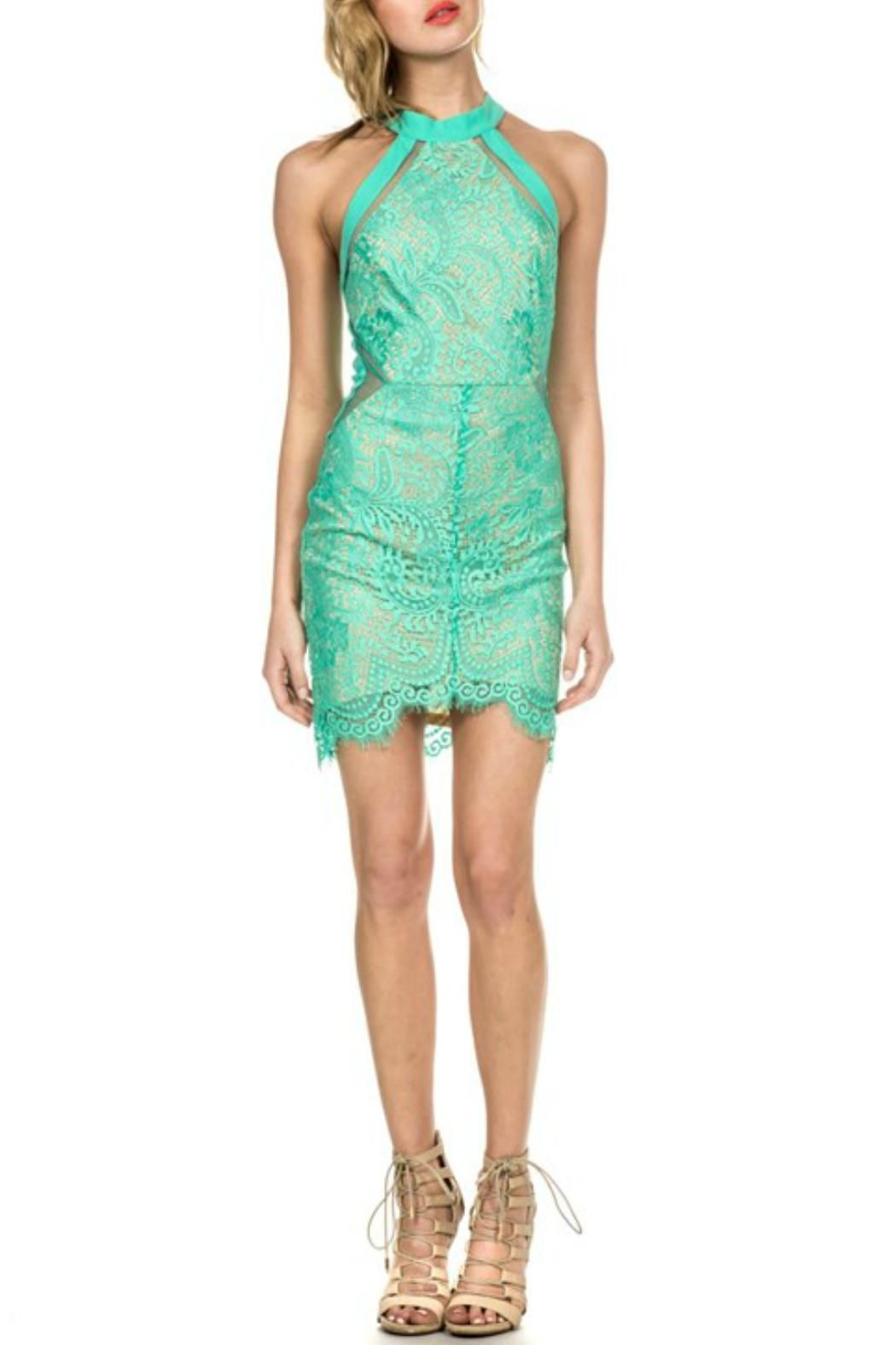 luxxel Brianna Dress | Lace party dresses, Mint color and Bright