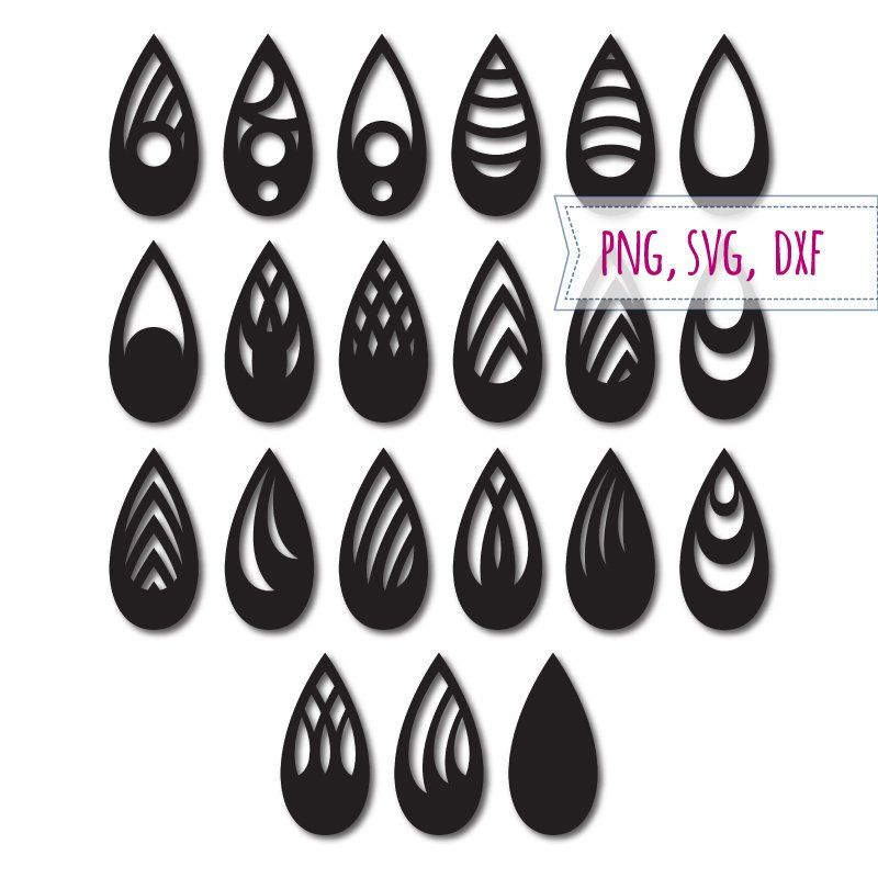 Earrings Template With And Without A Holes Tear Drop Earrings Etsy In 2021 Etsy Earrings Teardrop Earrings Svg