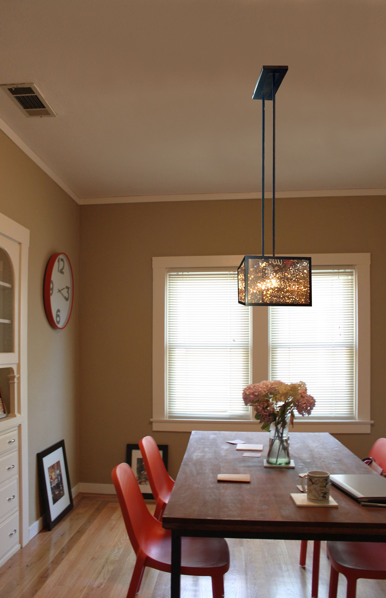 Dining Room Photoshopped With Panorama Chandelier West Elm