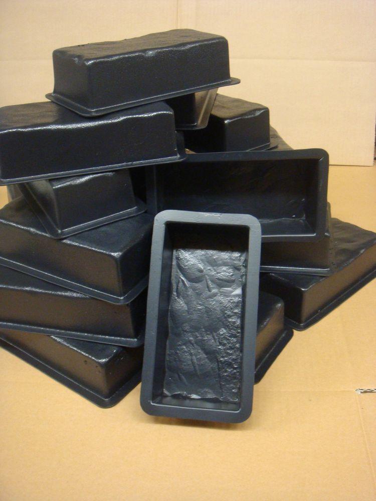 (25) Piece Plastic Concrete Molds. Antique Bricks/pavers/tiles /garden / Patio