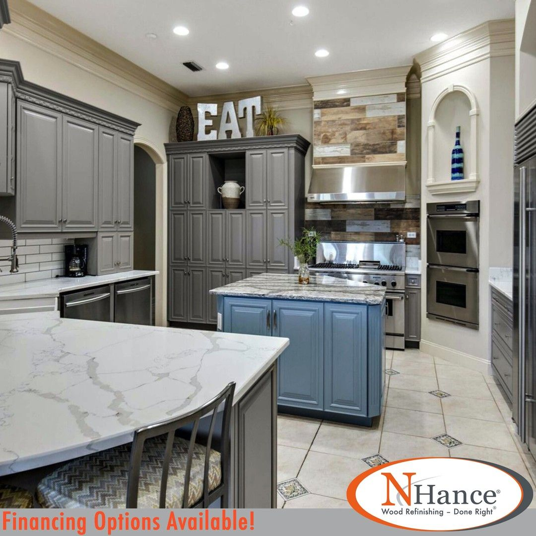 We This Look With Our Custom Color Options N Hance Is Able To Make Your Dream Kitchen A Reality Check Out In 2020 Dream Kitchen Refinishing Cabinets Custom Color