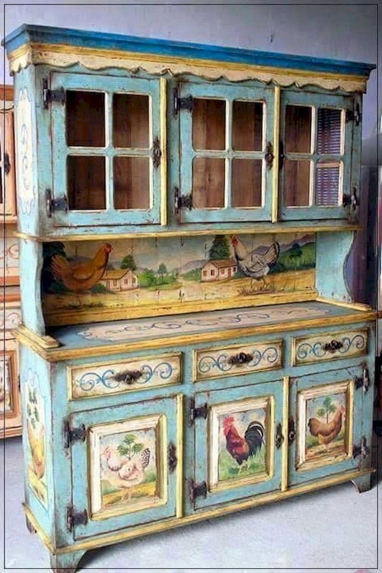 60 Amazing French Country Style Kitchen Decorating Ideas Page 33 Of 33 Painted Furniture Decoupage Furniture Country Style Kitchen