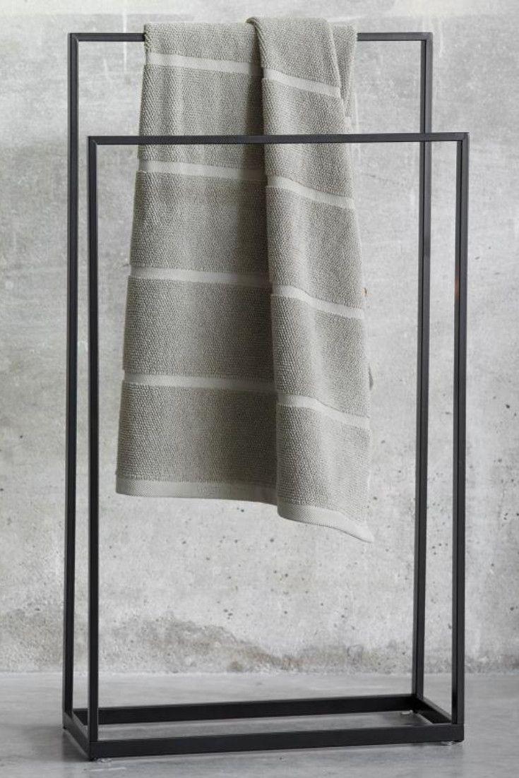 Aquanova Yuri Ein Stilvoller Begleiter Im Badezimmer Der Die Handtucher Durch Seine Grosszugige Aufteilu Handtuchhalter Schwarz Handtuchhalter Handtuchstander