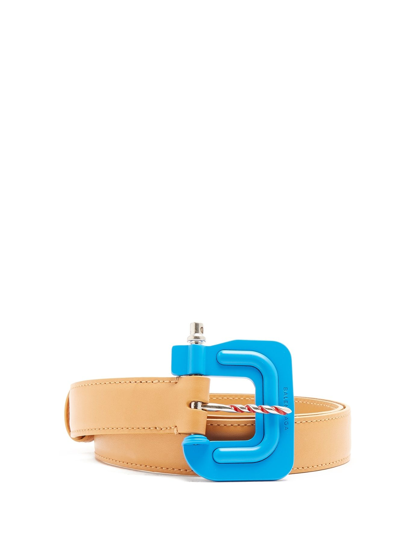 Clamp-buckle leather belt Balenciaga gcyFRkZw3