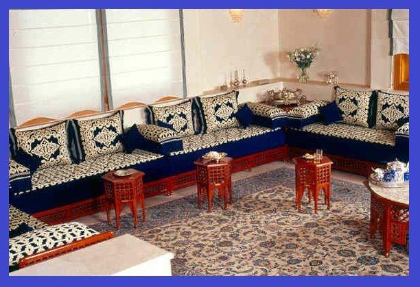 Salons Marocains Traditionnels en couleurs bleus marocain ...