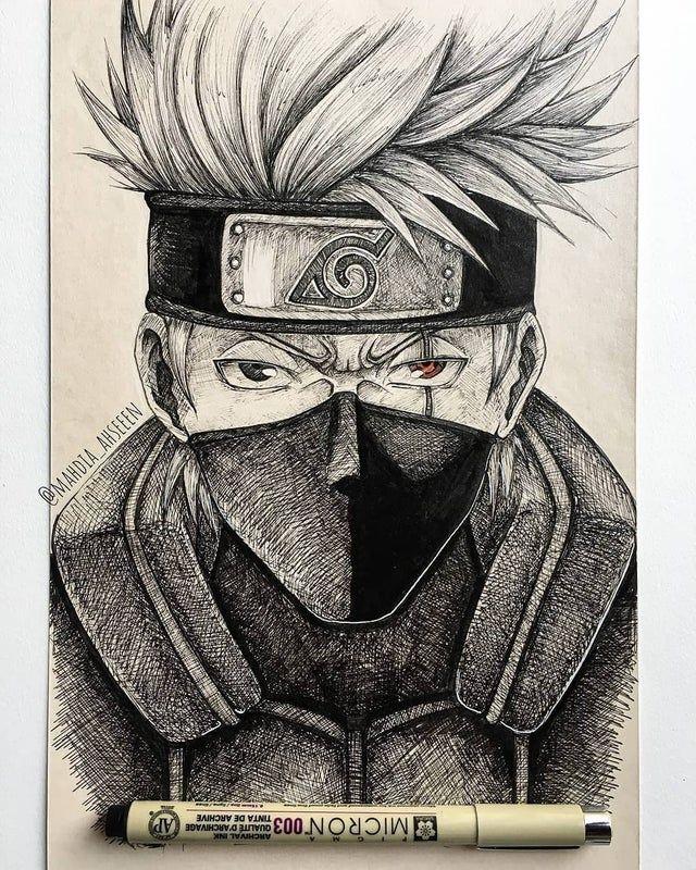Hatake Kakashi Naruto A Lapiz Dibujos De Kakashi Arte De Naruto