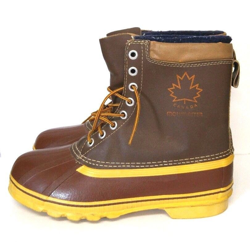 7631e36317cc Snowmaster Canada Winter Boots Men s 12 M Leather Snow Duck Waterproof Shoes   Snowmaster  SnowWinter