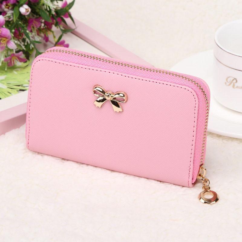 Hot on sales female wallets zipper korean cute pu leather