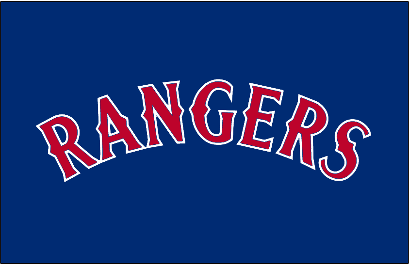texas rangers jersey logo 1994 rangers arched in red