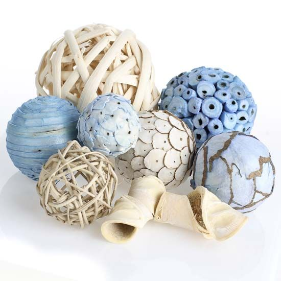 Decorative Bowl Filler Balls This Package Of Bowl Fillers Includes A Variety Of Assorted Dried