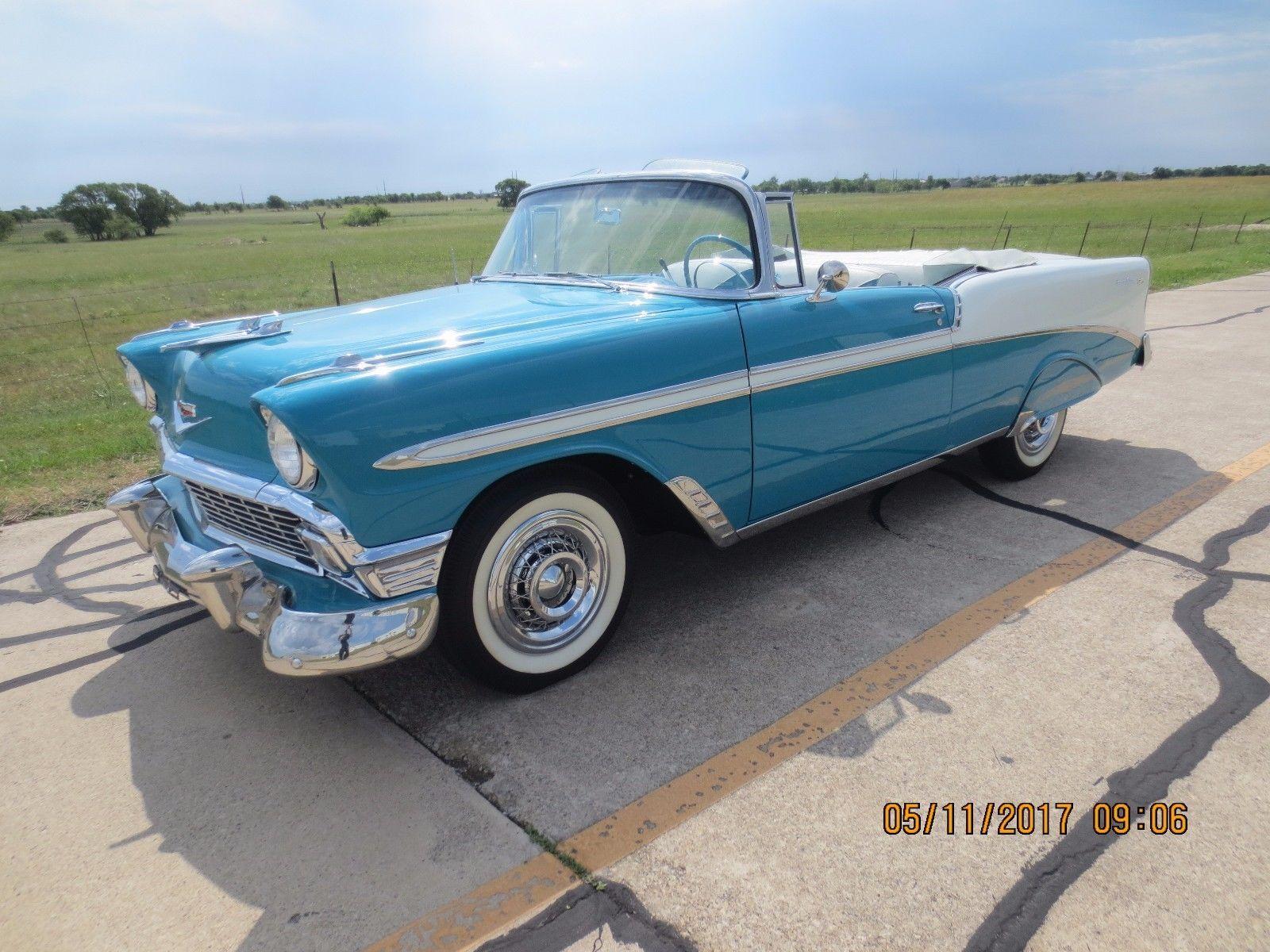 1956 Chevrolet Bel Air 150 210 Convertible 2 Door Ebay