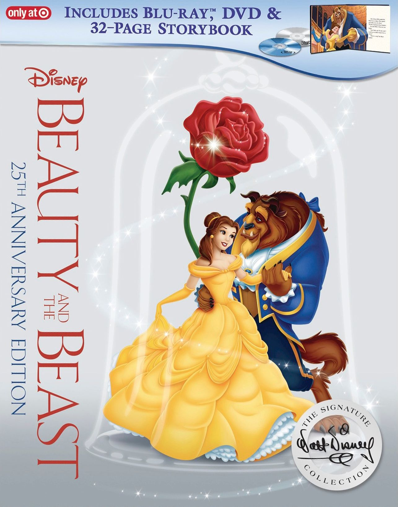 Beauty And The Beast Blu Ray 25th Anniversary Edition 32 Page Story Book Beauty And The Beast Disney Beauty And The Beast Blu Ray