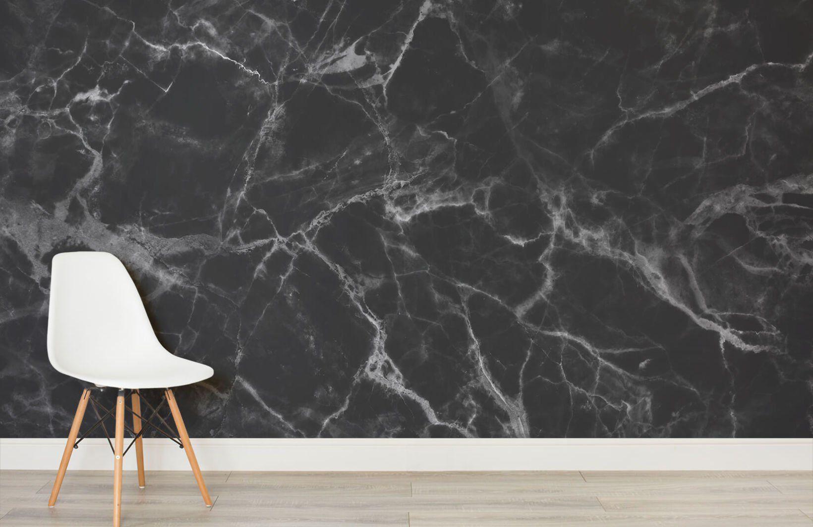Black Marble Wallpaper Mural Murals Wallpaper In 2021 Marble Wallpaper Black Marble Marble Effect Wallpaper