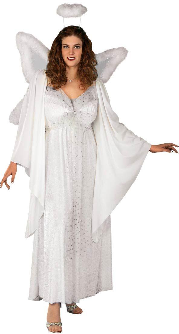 Womens Plus Size Angel Costume  36e734e85aa8