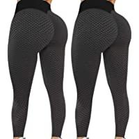 Famous TIK Tok Leggings for Women Butt Lift High Waisted Workout Yoga Pants Tiktok Butt Scrunch Lifting Leggings
