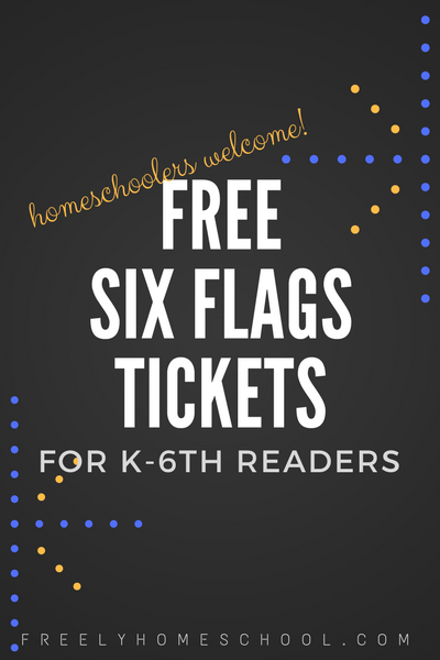 Homeschoolers Get Free Tickets To Six Flags For Reading Homeschool Homeschool Elementary Reading Writing