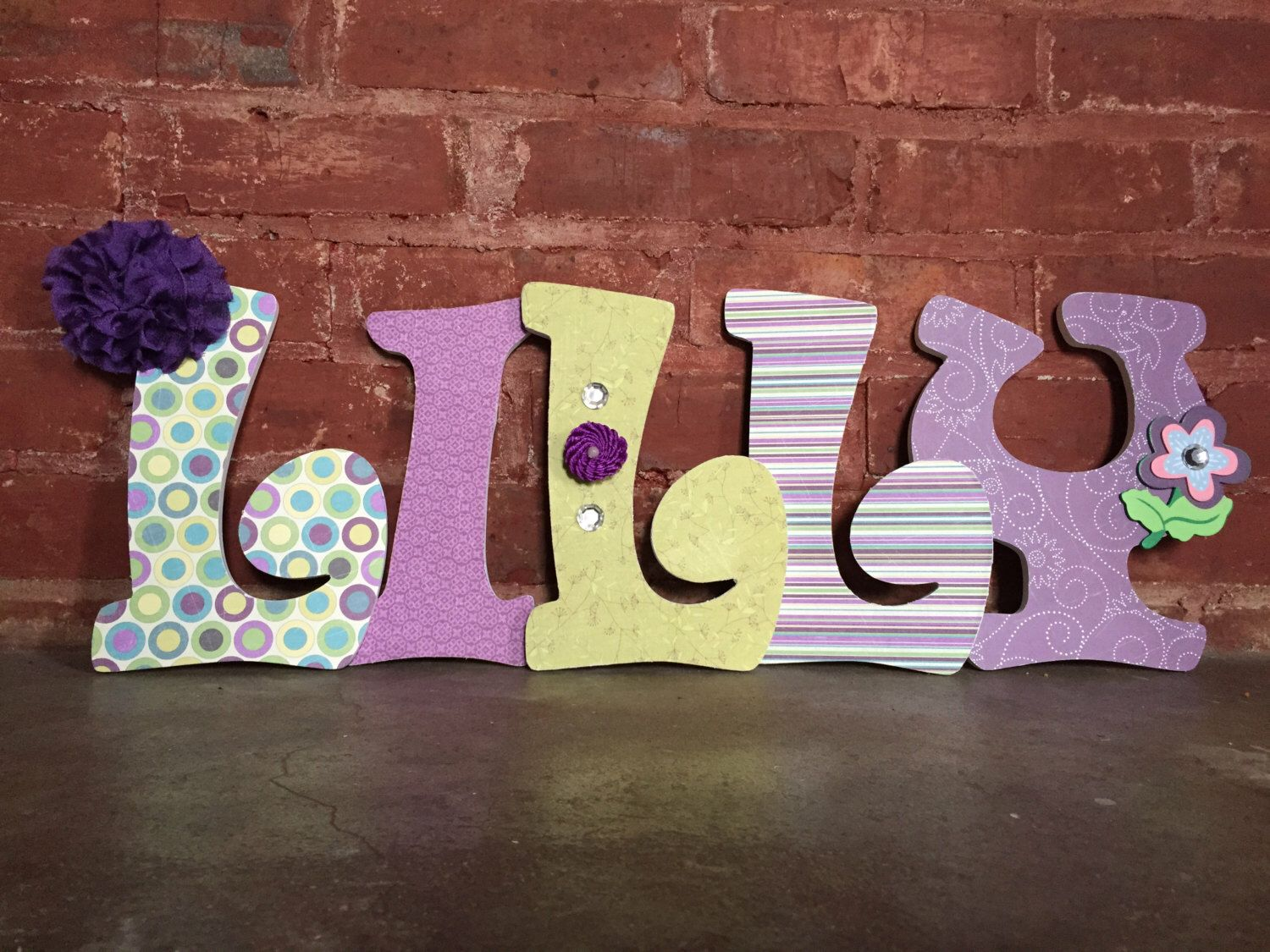 custom decorative wooden letters wooden names girls room nursery