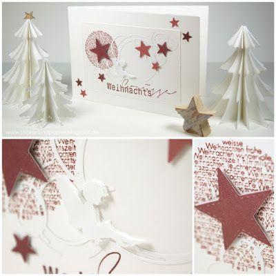 sticken papier christmas cards renke pinterest. Black Bedroom Furniture Sets. Home Design Ideas