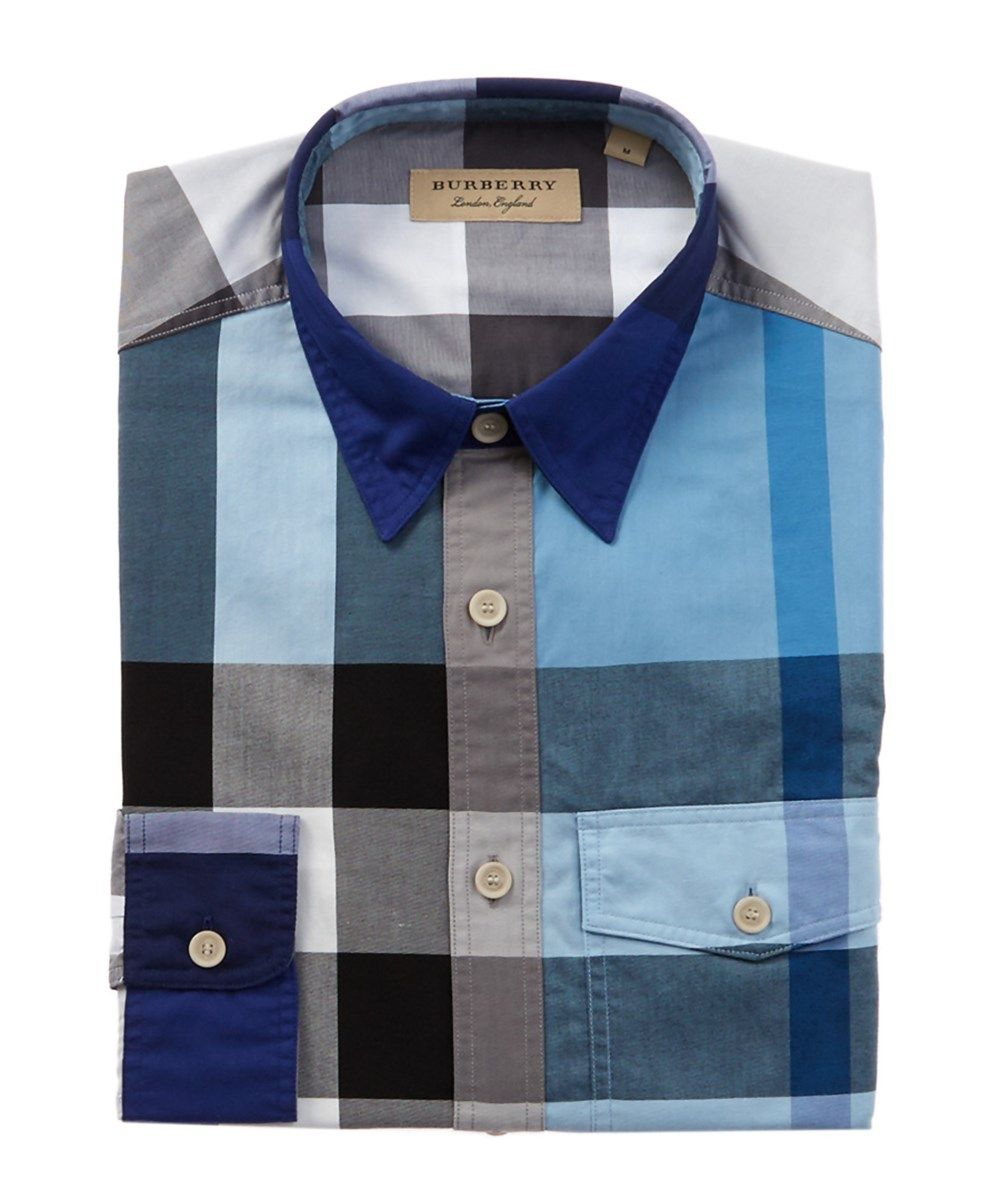 2cd515718a32 BURBERRY Burberry Check Cotton Poplin Shirt .  burberry  cloth  dress shirts