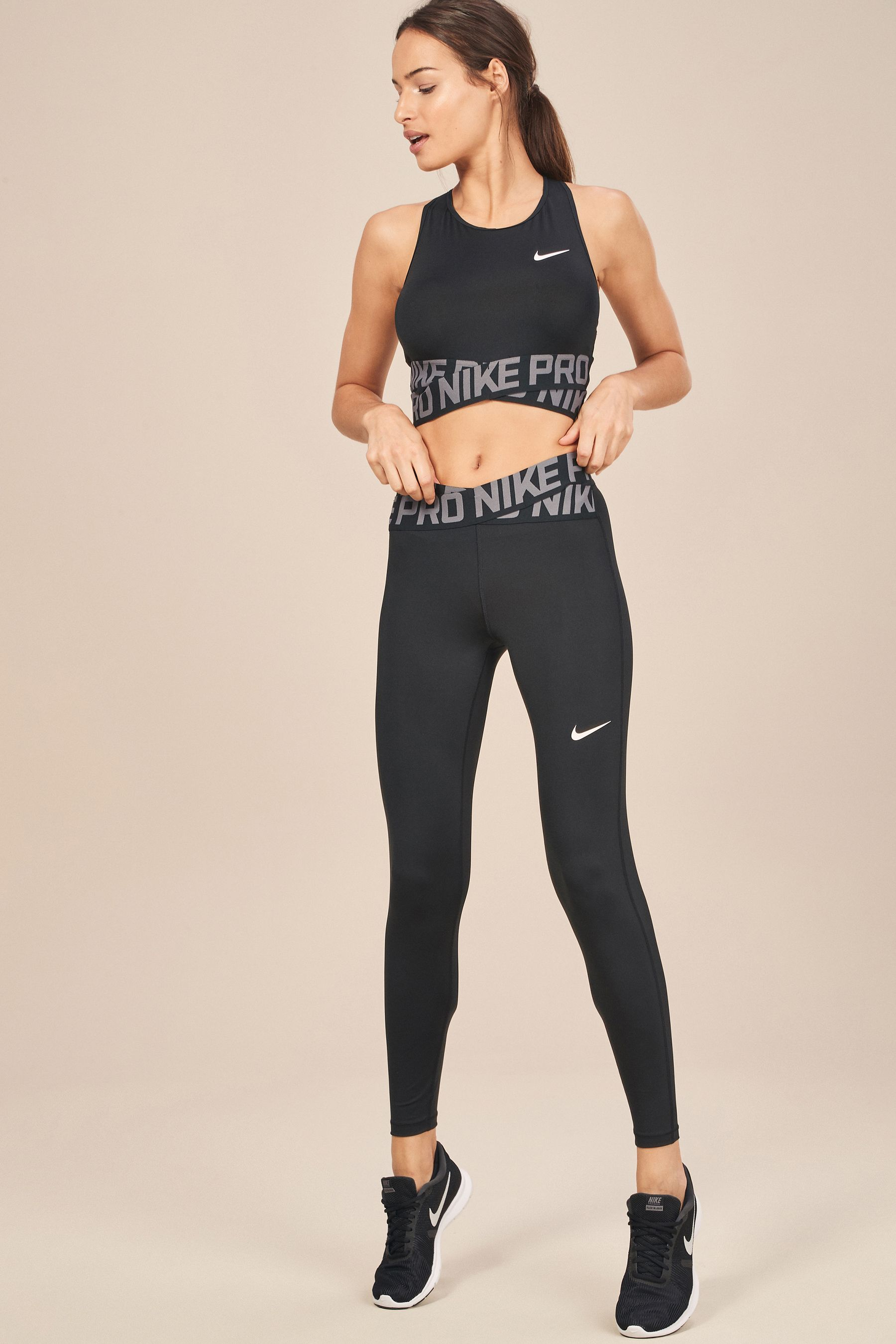 6cc41f64b64 Womens Nike Black Intertwist Tight - Black | Products in 2019 ...