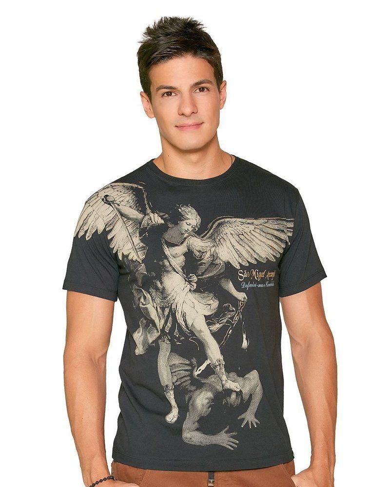 bdbfecb7b9 Camiseta São Miguel Arcanjo - eCristo - Camisetas religiosas católicas