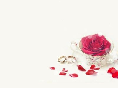 Ring and Rose for Wedding Template PPT Backgrounds Wedding - wedding powerpoint template