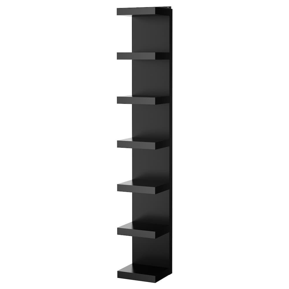estanteria colgada en la pared de ikea