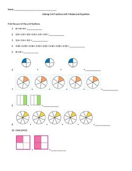 Identifying fractions worksheets info