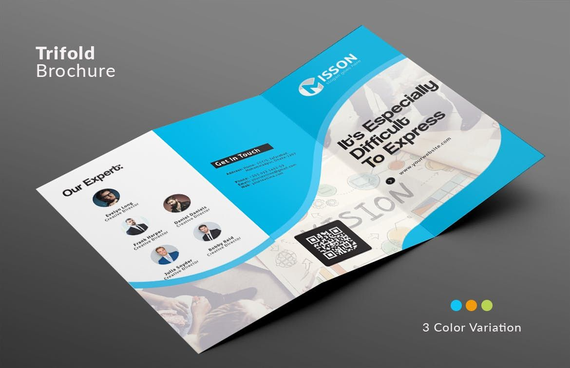Trifold Brochure Template Ai Eps A4 Brochure Templates