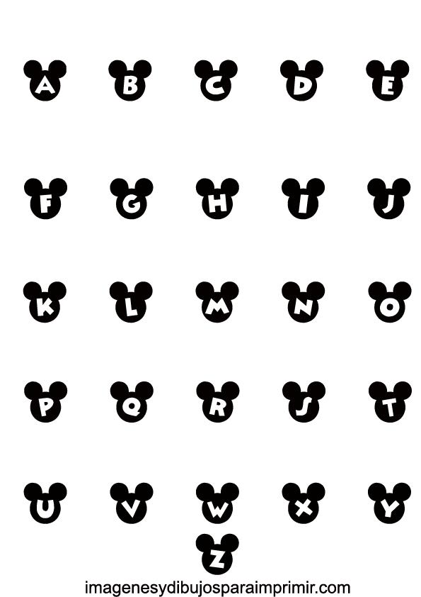 Abecedario de mickey mouse para imprimir , hacer realidad cualquier ...