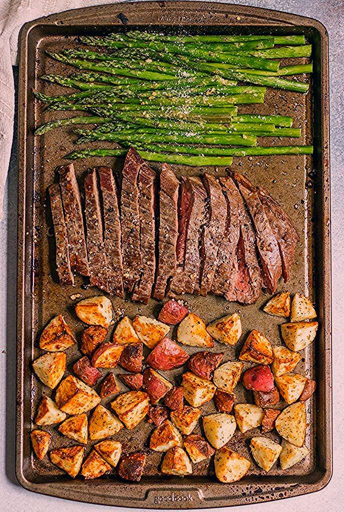 Parmesan Crusted Steak and Potato Sheet Pan Dinner Recipes Recipes Easy