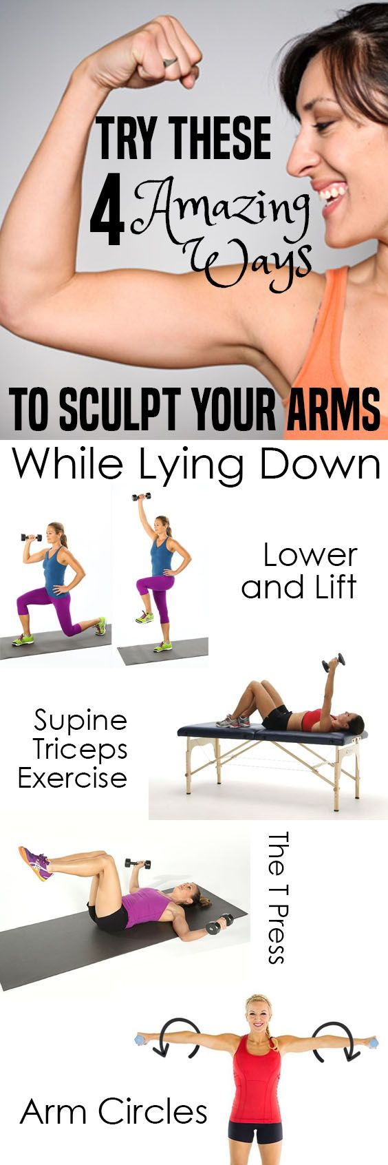 Try These 4 Amazing Ways To Sculpt Your Arms While Lying Down