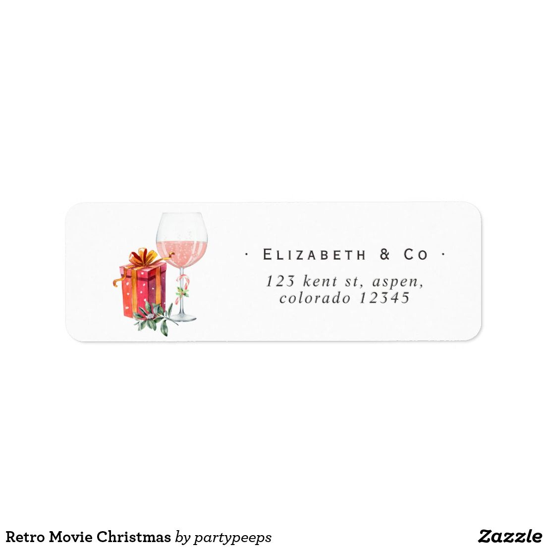 Retro Movie Christmas Label in 2018 | Christmas at Tiffany ...