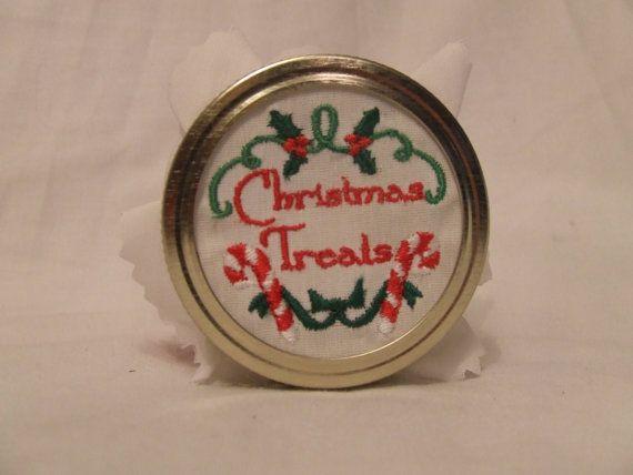Mason Jar Lid Cover Christmas Lid Covers By Homespunexpressions Gift Ideas Mason Jar Lids Canning Jar Lids Mason Jars