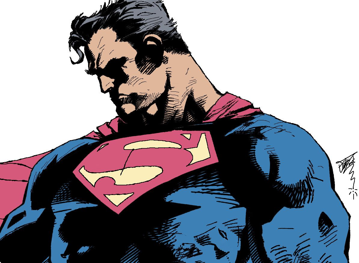 Superman made with the graphic tablet. Tutorial  on how to draw in my website!