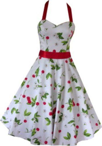 Pretty Kitty Fashion 50s Kirsche Weiß Rot Neckholder Kleid Pretty Kitty, http://www.amazon.de/dp/B004TSULW6/ref=cm_sw_r_pi_dp_IHDxrb12HS53S