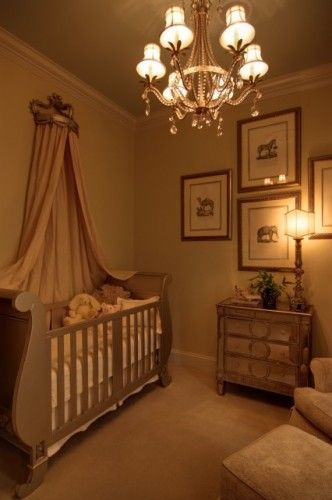 mirrored baby furniture. Elegant Babys Nursery With Mirrored Furniture And Sleigh Bed Crib Traditional Bedroom Baby Y