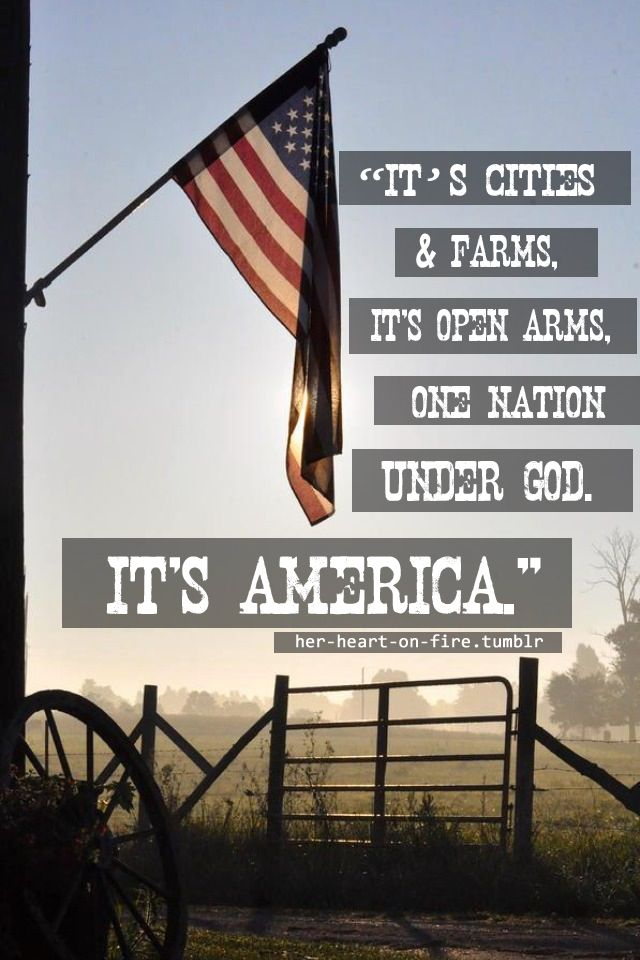 """her-heart-on-fire: """"Land of the Free, Home of the Brave.❤ (I didn ..."""