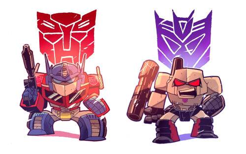 Optimus and Megatron