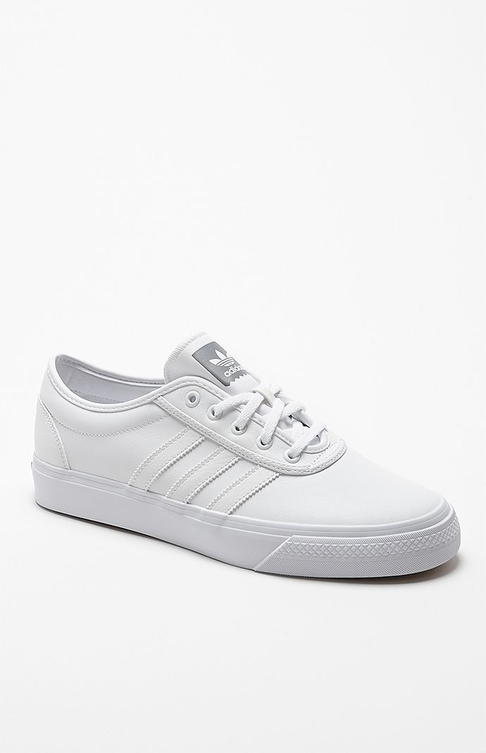 Adidas adi Ease White Leather Shoes – Mens Shoes – White White  8e1b28f68f6