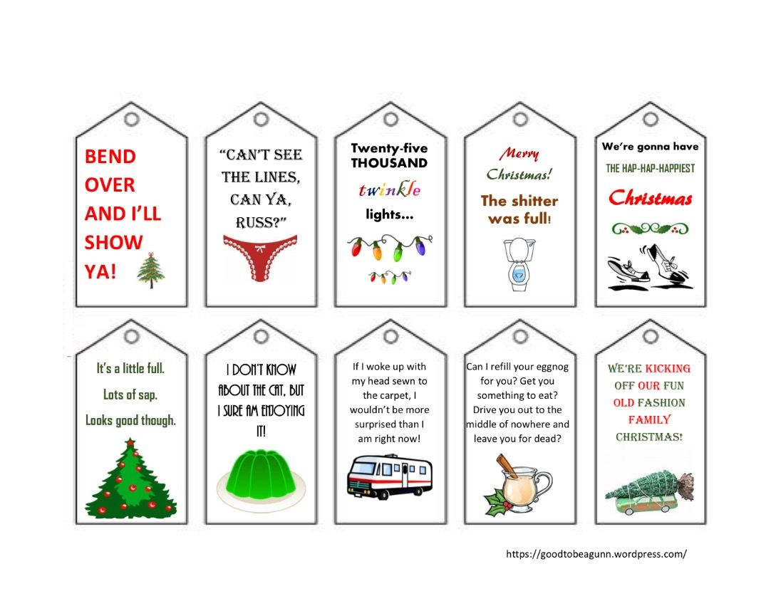 Free printable gift tags free christmas gifts national lampoons free christmas gift tags based on national lampoons christmas vacation 1betcityfo Images