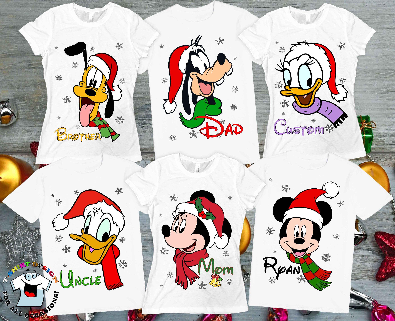 Disney christmas shirts custom mickey minnie donald
