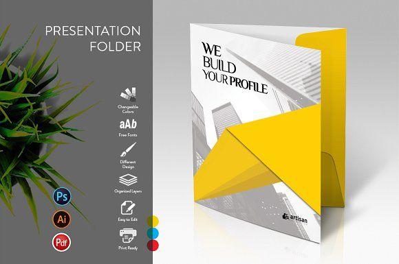 Presentation Folder by artisanHR on Creative Market #stationery #corporate #iden...