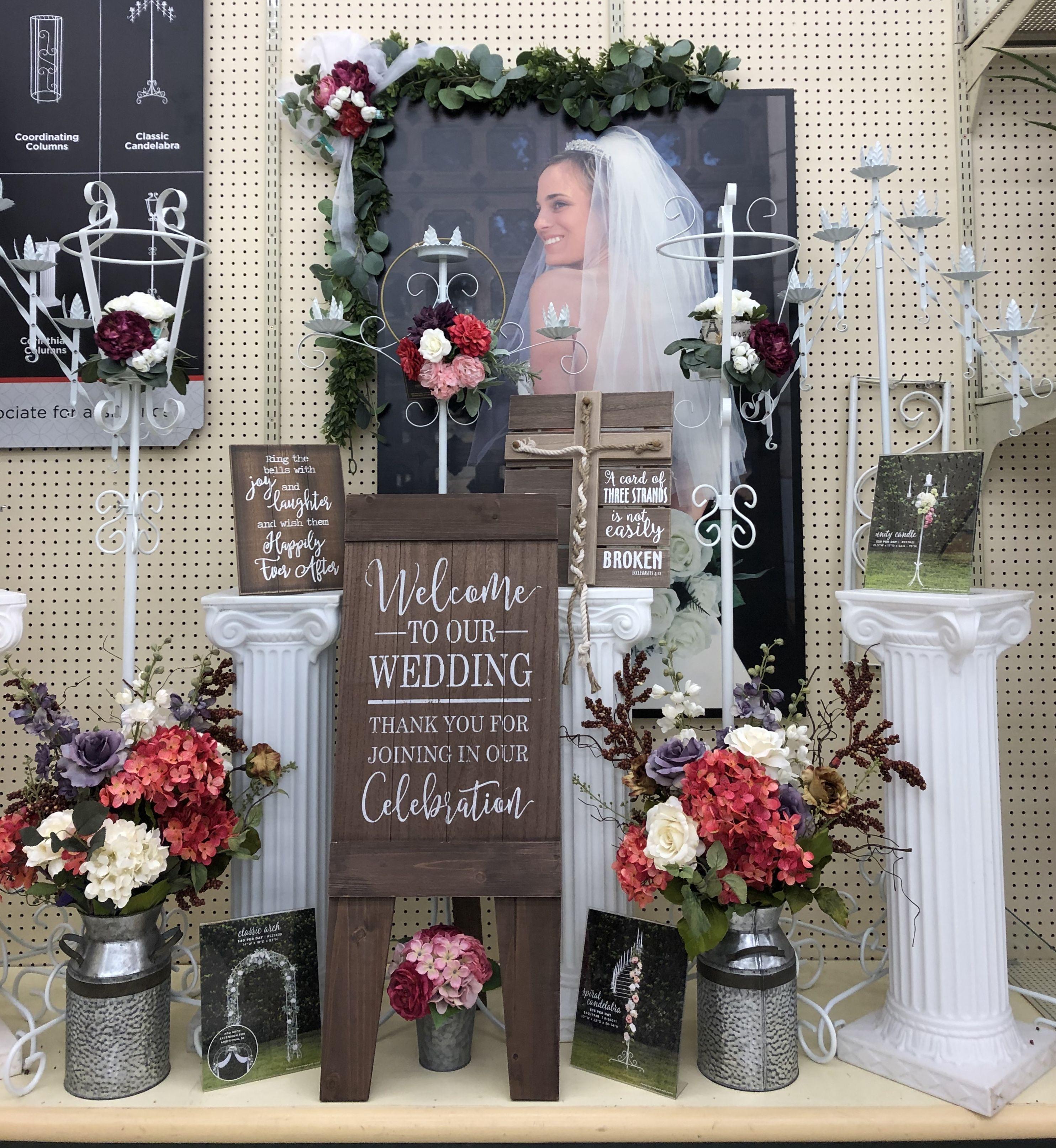 Hobby Lobby Wedding Ideas: Hobby Lobby Wedding Display In 2019