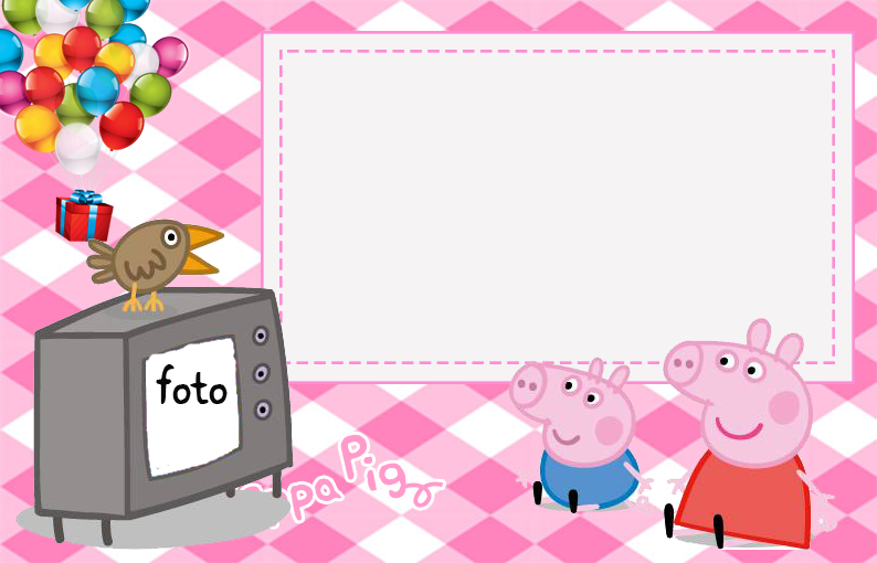 Peppa Pig Free Printable Invitations Labels Or Cards