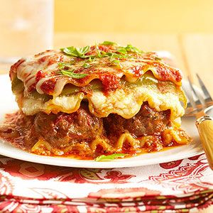 Meatball Lasagna Recipe On Yummly Diabetic Recipe With Ground Beef Healthy Pasta Recipes Italian Recipes