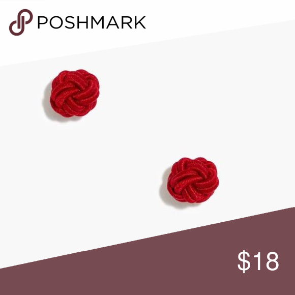 J. Crew Factory Red Rope Knot Stud Earrings These gorgeous, classy little fabric rope knot stud earrings are the cutest!! Perfect for adding a little nautical whimsy to your summer look