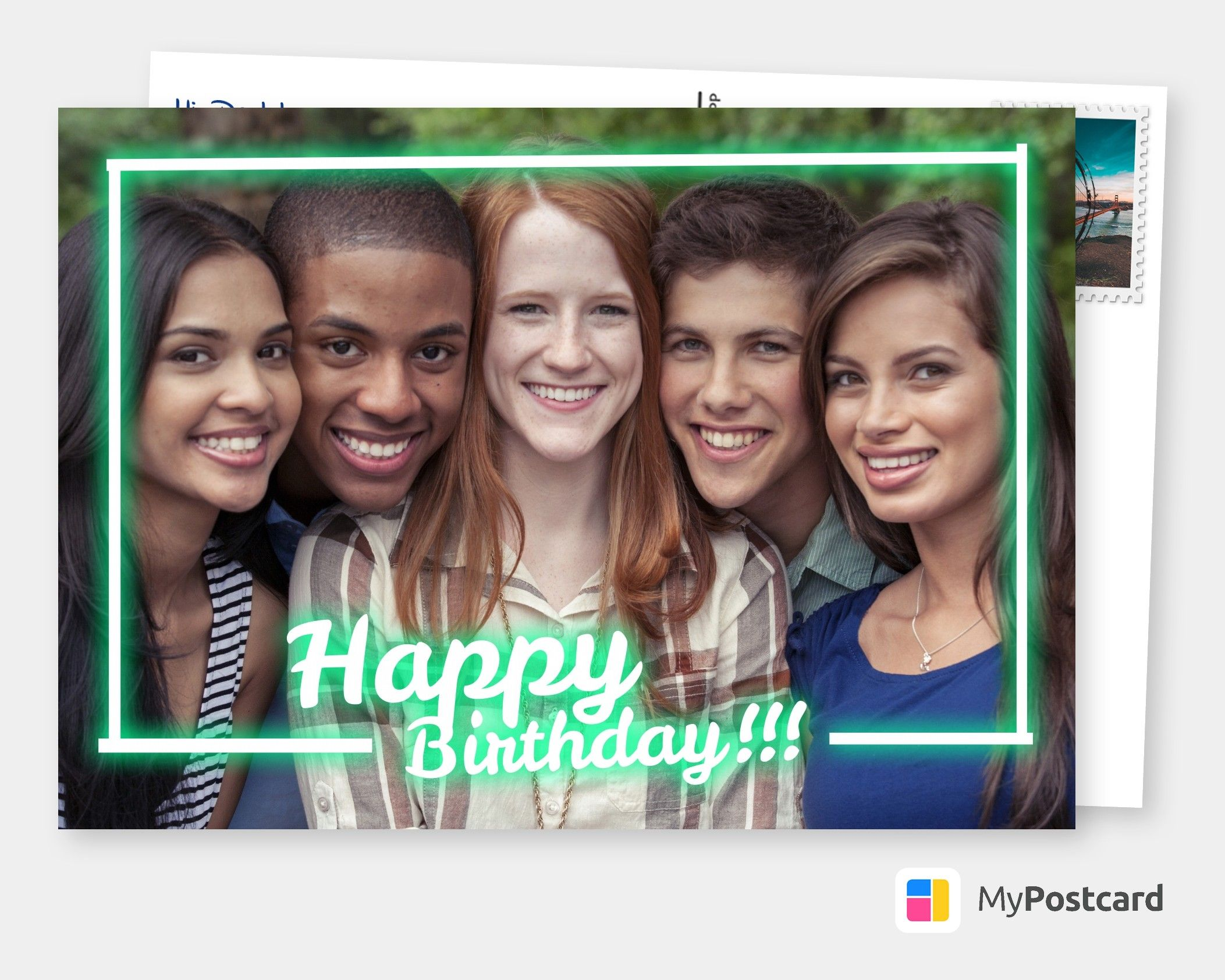 Personalized Photo Happy Birthday Cards | Free Shipping International | Templates use with Your Own Photos | Create and Send Your Photo Cards Online | Printed & Mailed For You International