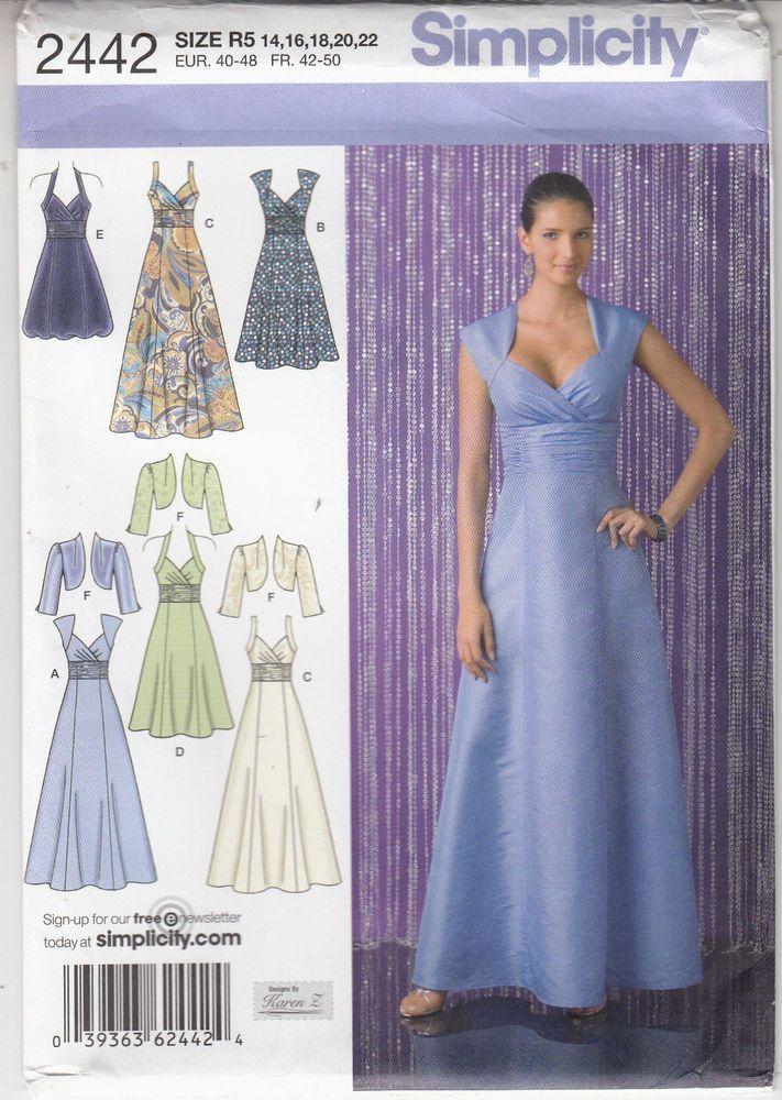 Bridal Gown Bridesmaid Dress Mother of Bride MOB Bolero Simplicity ...