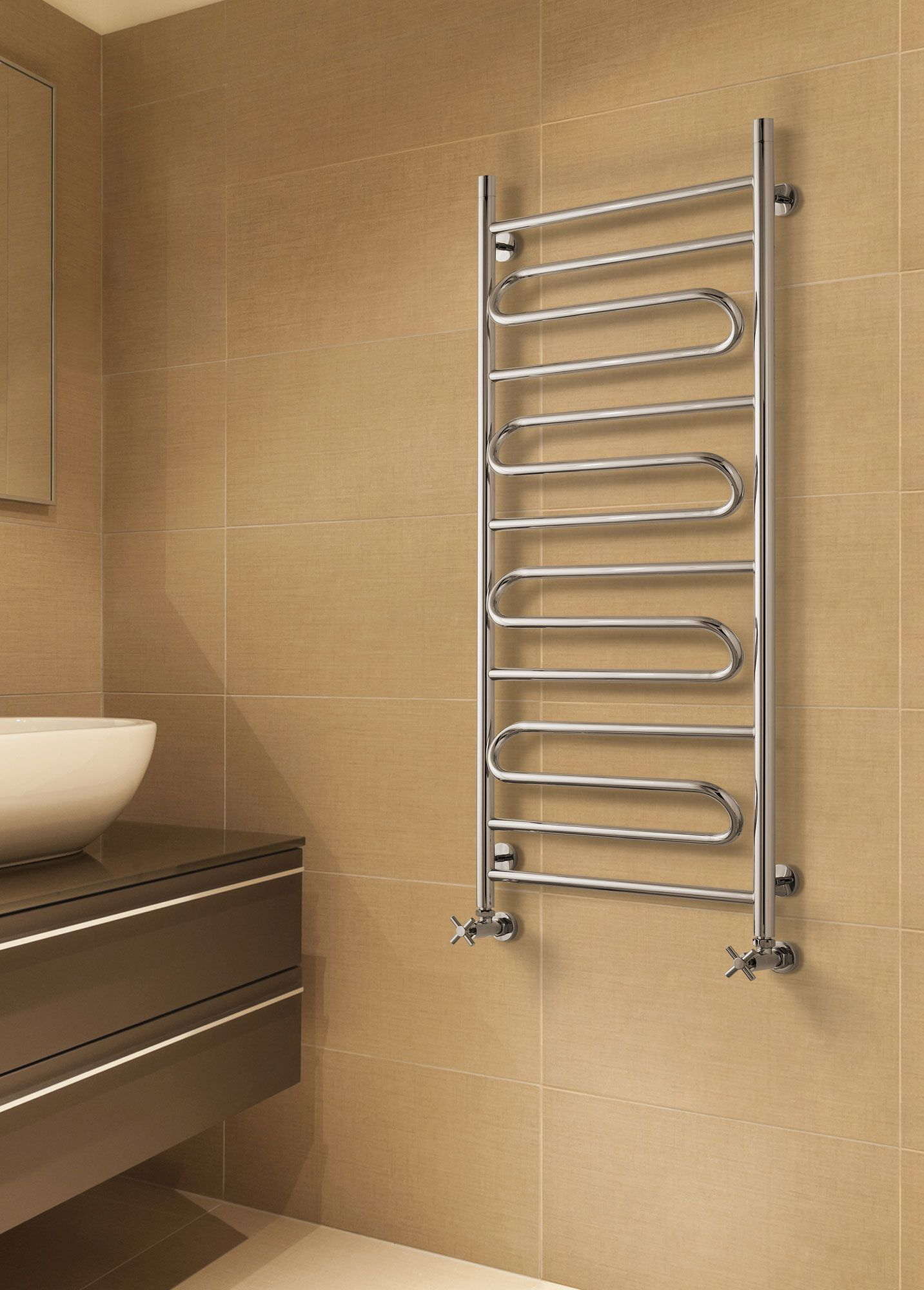 Introducing The Sunerzha Elegy Stainless Steel Heated Towel Rail Manufactured From Grade 304 Stainless Steel Dual Fuel Heating Options Available As An Op Miedz